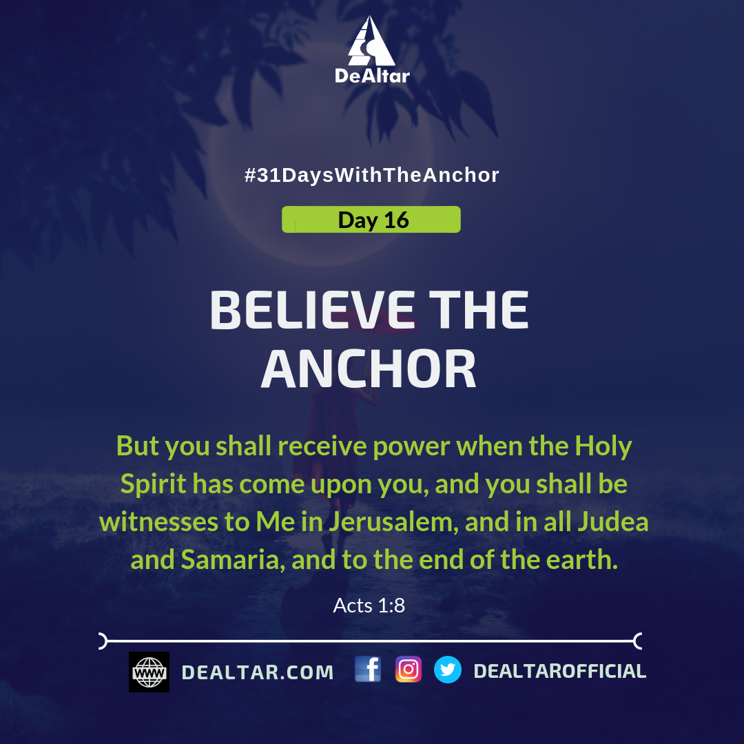 #31DaysWithTheAnchor – Day 16