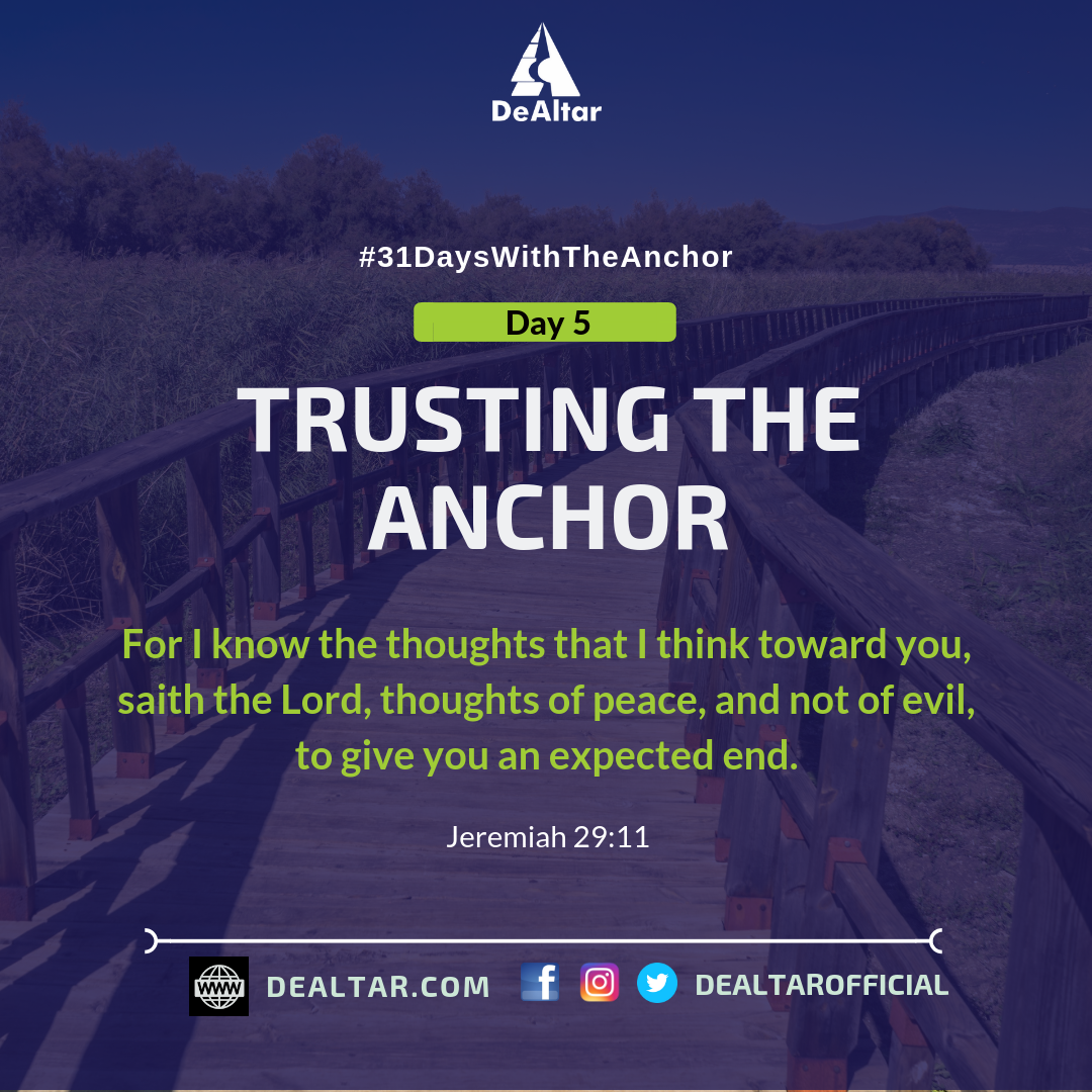 #31DaysWithTheAnchor – Day 5