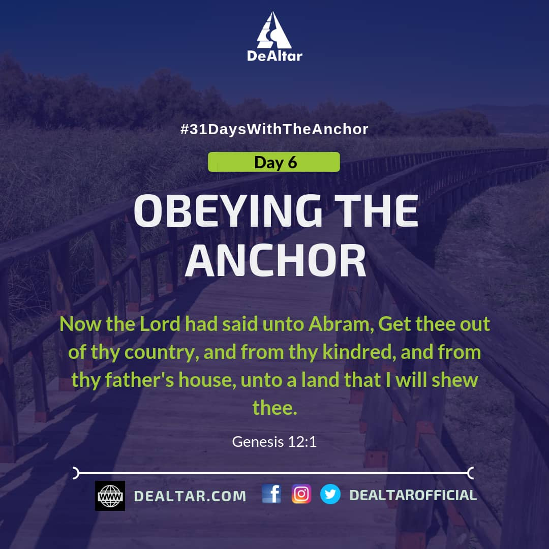 #31DaysWithTheAnchor – Day 6