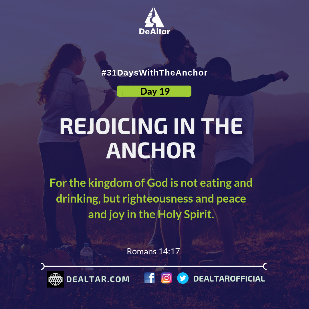 #31DaysWithTheAnchor – Day 19