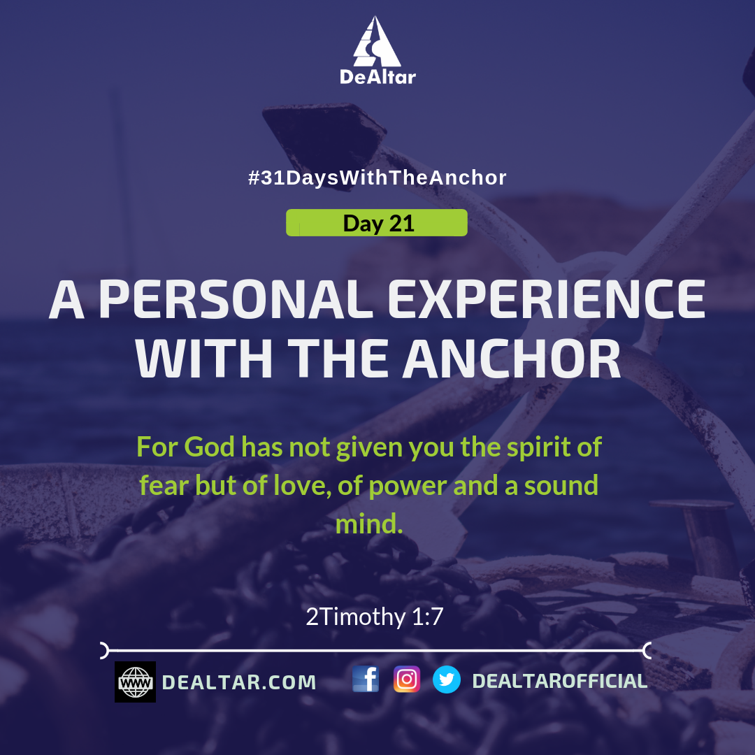 31 Days With The Anchor –  Day 21