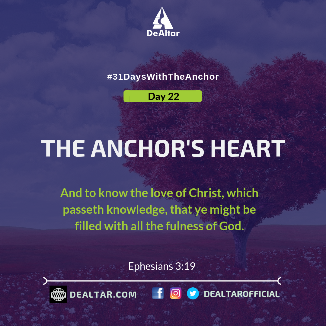 31 Days With The Anchor – Day 22